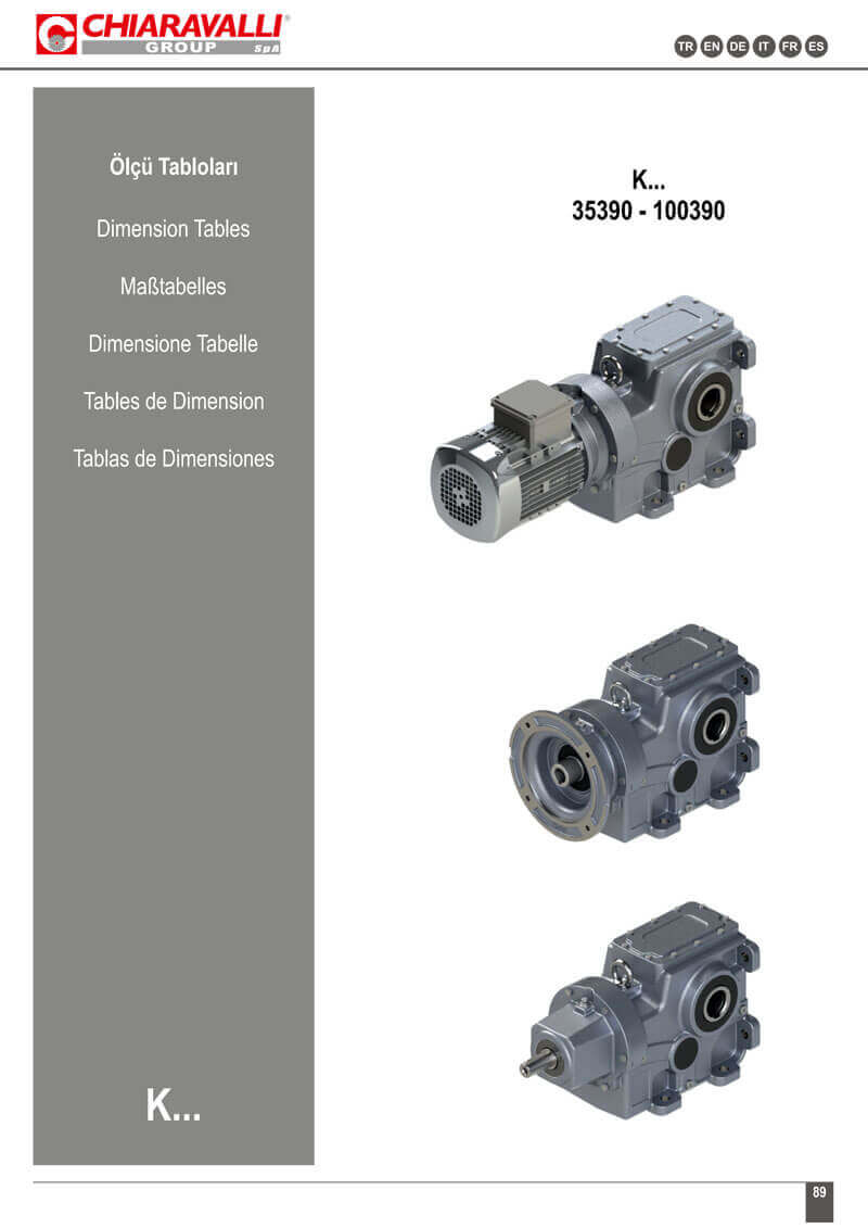 K SERIES BEVEL HELICAL GEARBOXES_DIMENSION_TABLES-1
